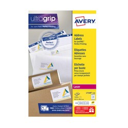 AVERY Étiquettes adresses, 99,1 x 33,9 mm, blanc