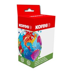Kores G1525BK pour brother LC-123BK, rouge